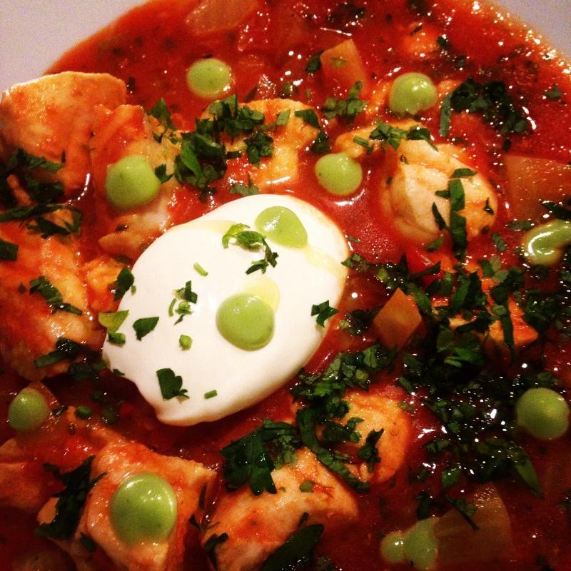 tomatisert fiskegryte